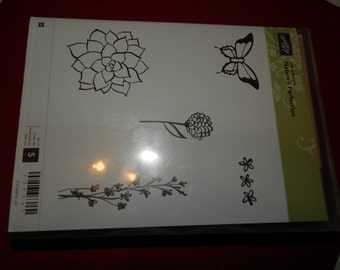 Stampin up Nature's Perfection Wood un mounted Stamp set NIP