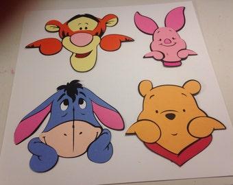 Set of 4 Pooh character die cuts