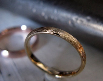 14k Gold Wedding Band Comfort Fit Size 8 1/2 Mens Wedding Ring Unique Mens Wedding Band Mens Wedding Ring Mens Wedding Bands Rustic Mens Wed
