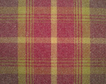 Balmoral Amethyst Wool Effect Washable Thick Tartan Plaid Upholstery & Curtain Designer Fabric