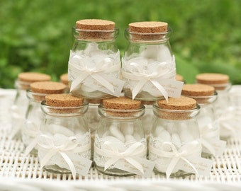 Vintage Wedding favor with a lace...!