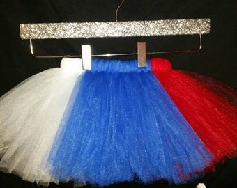 Patriotic Tutu, 4th of July Tutu, Red White Blue Tutu, Girls Tutu, Infant Tutu