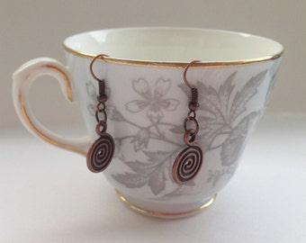 Spiral Thai Earrings - Thai Style Jewelry