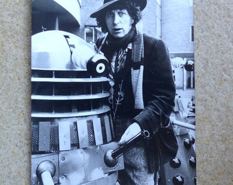Doctor Who with Dalek press photo Tom Baker photograph Dr. Who