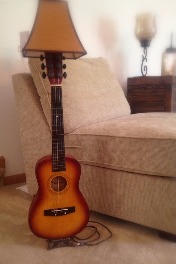 how to turn a guitar into a lamp