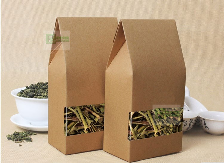 No Printing Kraft Paper Bag Square Bottom Kraft Paper Bag For