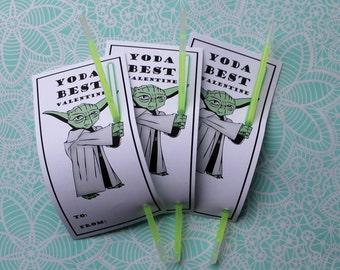 PDF Yoda Glow stick Valentines