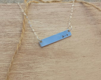 Arrow Stamp Bar Necklace