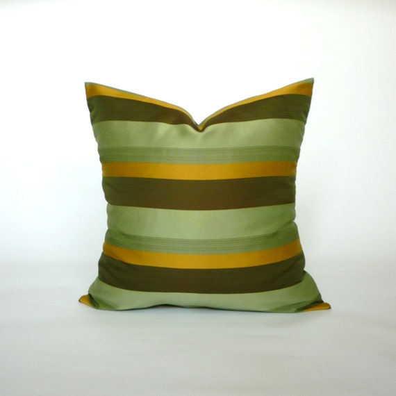 items similar to vintage green light green dark green brown gold pillow cover decorative. Black Bedroom Furniture Sets. Home Design Ideas