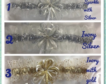Ivory Wedding or Prom Garters