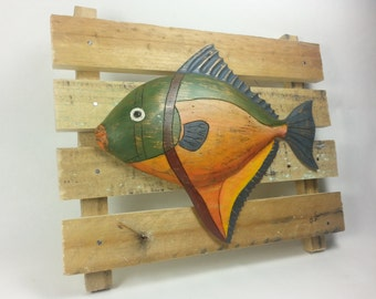Hand carved fantasy Moon fish.