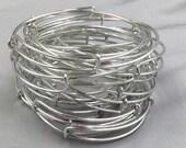 BARGAIN Bulk Lot 50 pcs Expandable Wire Bangle Silver Plated Charm Bracelet - Single Loop