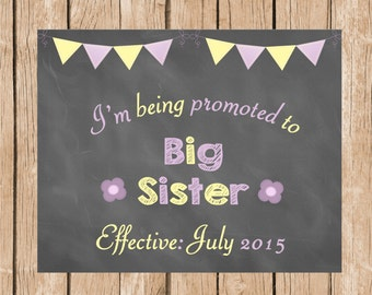 Big Sister - Pregnancy - Birth Announcement