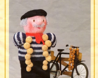 PDF Vintage Woolly Wotnot Knitting Pattern – Onion Seller, Doll, Toy - PDF instant download