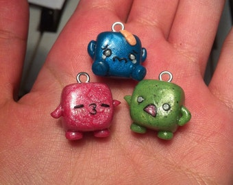 Emoticon Cube Charms