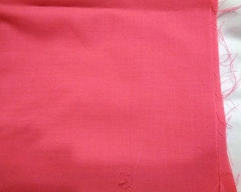 2 yards bubble gum pink broadcloth