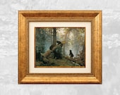Art Canvas Print Morning At the Pine Forest Ivan Shishkin Russian Impressionist HQ Full Color Framed & Ready to Hang