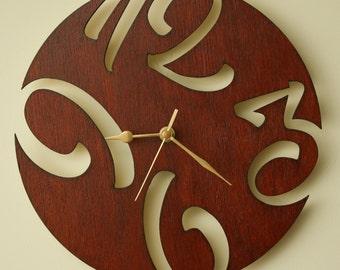 Items Similar To Cardboard Pendulum Wall Clock Modern