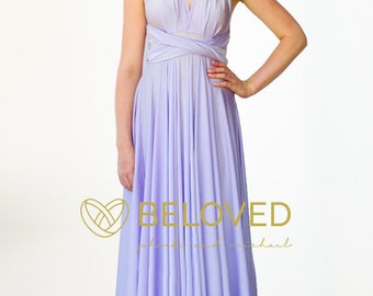 Convertible Infinity Dress Bridesmaid Dress Lilac / Light Purple