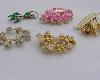Vintage Brooch Jewelry Lot
