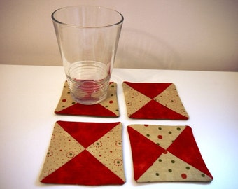 Set of four co-ordinating coasters.