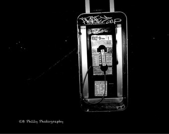 Late-Night Call. Payphone, South Philadelphia.