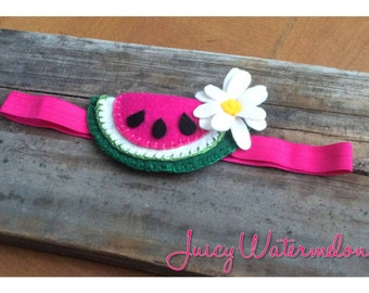 Juicy Watermelon Felt Baby Headband