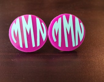 Custom Acrylic Earrings with Design or Monogram