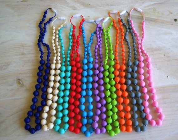 SALE!!! BPA Free Silicone Large and Small Bead Teething Necklace!!!