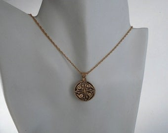 Bronze Persian Medallion Persian Jewelry Made in Montana Fine Jewelry Gender Neutral Necklace 8th Anniversary Gift for Men Gift for  Women