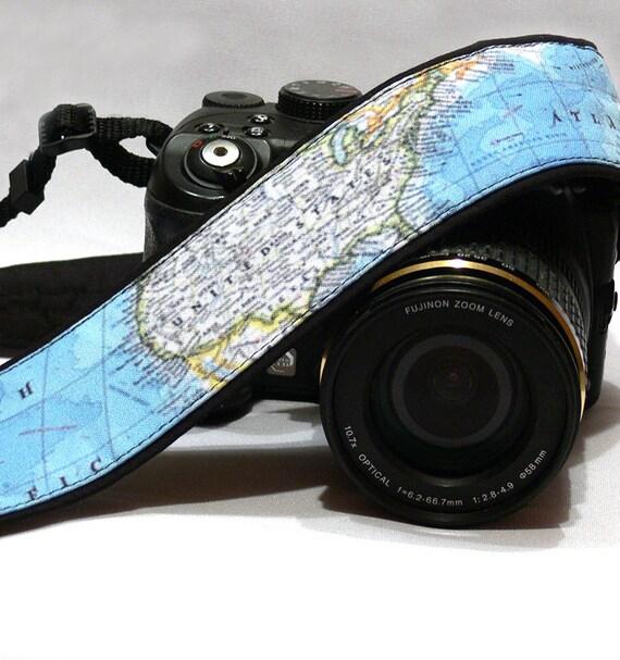 World Map Camera Strap. Canon Nikon Camera Strap. SLR DSLR - photo#15