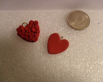 Polymer Clay Heart Charms