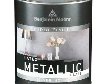 Benjamin Moore Studio Finishes Metallic Glaze 1 Quart - Silver