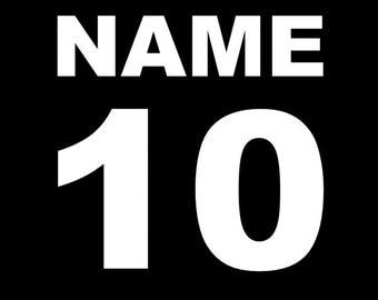 Customized Name and Number