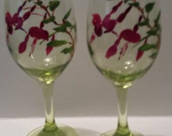 Fuschia wineglass
