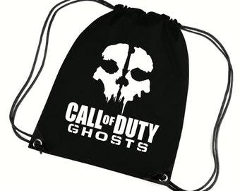 Ghost gym bag,pe bag,school bag,water resistant drawstring bag.