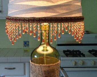 Vintage Wine Bottle Lamp