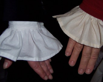 Ruffled Shirt Cuffs; Removable Shirt Cuffs; Victorian; Edwardian; Steampunk; Pirate