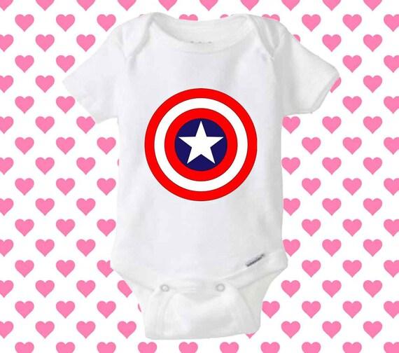 Captain america logo baby onesie shirt baby onesie baby