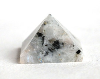 Rainbow Moonstone Crystal Pyramid Natural Stone