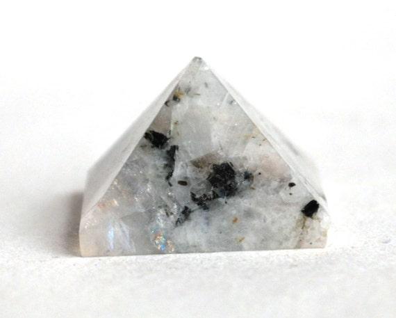 Rainbow Natural Stone : Rainbow moonstone crystal pyramid natural stone