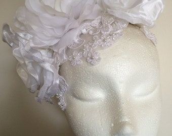 White Fascinator Headpiece