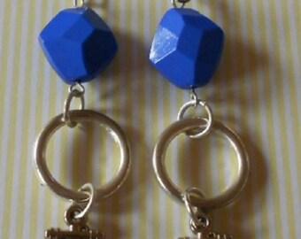 Hand made earrings, nautical