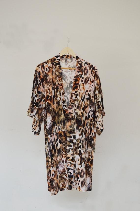 Leopard print wedding gown sleep wear get ready by for Zebra print wedding dress