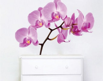 Orchid Decal Flower Wall Sticker Peel And Stick Orchids, Flower Wall Decal, Flower  Wall Part 59