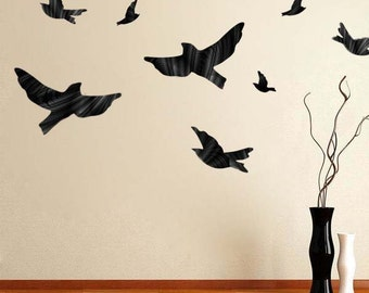 Flying Bird Vinyl Wall Decal Murals, Birds Wall Designs, Reuable Bird Decal, Bird Wall Graphics, Bird Wallpaper Removable Bird Sitckers, d05