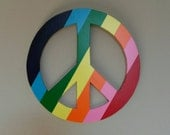 Peace Sign Wall Hanging, Peace Sign, Hippie, Home Decor, Customized to Your Choice, Wall Hanging, Wooden Sign