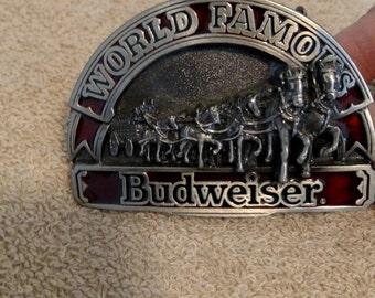 Budweiser Clydsdale  horses 1992 belt buckle