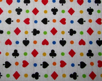 Clubs,Ace,Diamond,Hearts - Polycotton Fabric Dress/Craft Fabric