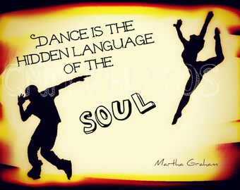 Dance is the Language of the Soul  Quote  - Metallic Paper
